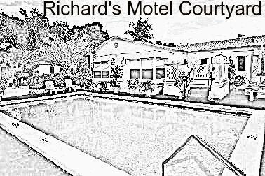 Richard's Motel Court Yard Coloring Book